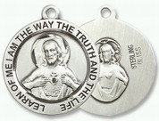 Sterling Silver Sacred Heart of Jesus Scapular