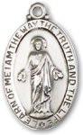 "Sacred Heart Medal Sterling Silver 24"" Chain - BL4145SSS24S"
