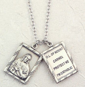 Scapular | Sterling Silver Medals | 2 Piece