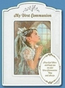"Blessing | First Communion Frame | Porcelain | 4"" x 6 "" Photo"