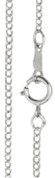 """Curb Style - w/ Clasp - 13"""" - Sterling Silver"""