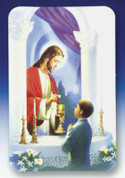 Cherished Memories First Communion Card For a boy measures 3 and 1 half by 2 and 1 quarter inches MH3515640