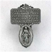 Visor Clip - Mircaculous Medal