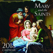 2018 Mary and The Saints Wall Calendar Includes Days of Fasting Saint Days and  Liturgical Year Notations with plenty of notation space measures 12 inches by twelve inches