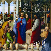 2017 The Life of Our Lord Catholic Wall Calendar 9781505109955