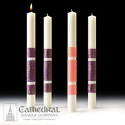 Advent Candles | 3 Purple 1 Pink | 51% Beeswax | 1-1/2 x 17 | CC82382620