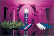 Home Advent Taper Candles seven eighths inch diameter by twelve inches high three blue and one pink CC82712901