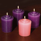 Advent Votive Candles Set of Four Includes Three Purple And One Pink AB70560