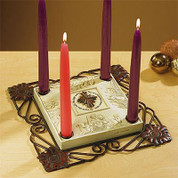 Star of Christmas Advent Candle Holder