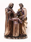 Holy Family Statue in Bronze