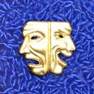 Drama Masks Pin