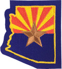Arizona Flag State Shape