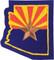 Arizona Flag State Shape