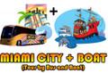 Miami City Tour + Miami Boat Tour Combo