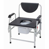Bariatric Drop Arm Bedside Commode Seat-155