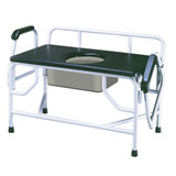 Bariatric Drop Arm Bedside Commode Seat-160