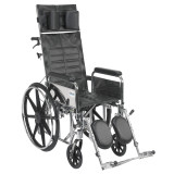 "Sentra Reclining Wheelchair with 16"" wide seat and Various Arm Styles and Elevating Leg rest-854"