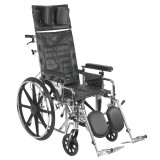 "Sentra Reclining Wheelchair with 18"" wide seat and Various Arm Styles and Elevating Leg rest-856"
