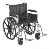 "Sentra Extra Heavy Duty Wheelchair with 22"" wide seat and Various Arm Styles and Front Rigging Options-867"