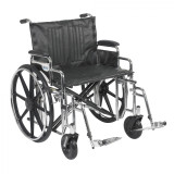 "Sentra Extra Heavy Duty Wheelchair with 24"" wide seat and Various Arm Styles and Front Rigging Options-868"