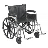 "Sentra Extra Heavy Duty Wheelchair with 24"" wide seat and Various Arm Styles and Front Rigging Options-869"