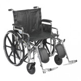 "Sentra Extra Heavy Duty Wheelchair with 22"" wide seat and Various Arm Styles and Front Rigging Options-870"