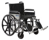 "Sentra Extra Heavy Duty Wheelchair with 24"" wide seat and Various Arm Styles and Front Rigging Options-873"