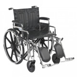 "Sentra Extra Heavy Duty Wheelchair with 20"" wide seat and Various Arm Styles and Front Rigging Options-874"