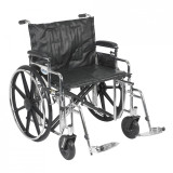 "Sentra Extra Heavy Duty Wheelchair with 24"" wide seat and Various Arm Styles and Front Rigging Options-881"