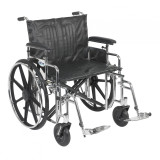 "Sentra Extra Heavy Duty Wheelchair with 24"" wide seat and Various Arm Styles and Front Rigging Options-882"