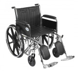 "Sentra EC Heavy Duty Wheelchair with 20"" wide seat and Various Arm Styles and Front Rigging Options-886"