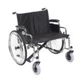 "Sentra EC Heavy Duty Extra Wide Wheelchair with 26"" wide seat and Various Arm Styles Arms-901"