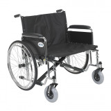 "Sentra EC Heavy Duty Extra Wide Wheelchair with 28"" wide seat and Various Arm Styles Arms-904"