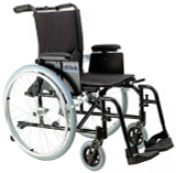 Cougar Ultra Lightweight Rehab Wheelchair with Various Arms Styles and Front Rigging Options-907