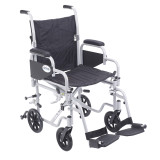 "Poly Fly Light Weight Transport Chair Wheelchair with 18"" seat and Swing away Footrest-938"