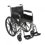 Chrome Sport Wheelchair with Various Arm Styles and Front Rigging Options-941