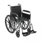 Chrome Sport Wheelchair with Various Arm Styles and Front Rigging Options-943