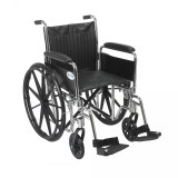 Chrome Sport Wheelchair with Various Arm Styles and Front Rigging Options-946