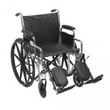Chrome Sport Wheelchair with Various Arm Styles and Front Rigging Options-950