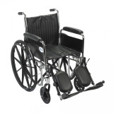 Chrome Sport Wheelchair with Various Arm Styles and Front Rigging Options-951