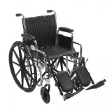 Chrome Sport Wheelchair with Various Arm Styles and Front Rigging Options-952