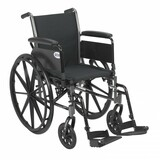 "Cruiser III Light Weight Wheelchair with 16"" wide seat and Various Flip Back Arm Styles and Front Rigging Options-970"