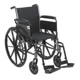 "Cruiser III Light Weight Wheelchair with 18"" wide seat and Various Flip Back Arm Styles and Front Rigging Options-972"