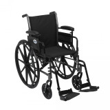 "Cruiser III Light Weight Wheelchair with 18"" wide seat and Various Flip Back Arm Styles and Front Rigging Options-976"
