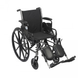 "Cruiser III Light Weight Wheelchair with 18"" wide seat and Various Flip Back Arm Styles and Front Rigging Options-980"