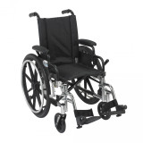 "Viper Wheelchair with 14"" wide seat and Various Flip Back Desk Arm Styles and Front Rigging Options-988"
