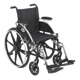 "Viper Wheelchair with 16"" wide seat and Various Flip Back Desk Arm Styles and Front Rigging Options-990"