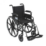 "Viper Wheelchair with 18"" wide seat and Various Flip Back Desk Arm Styles and Front Rigging Options-992"
