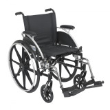 "Viper Wheelchair with 18"" wide seat and Various Flip Back Desk Arm Styles and Front Rigging Options-993"