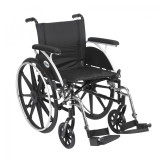 "Viper Wheelchair with 18"" wide seat and Various Flip Back Desk Arm Styles and Front Rigging Options-994"